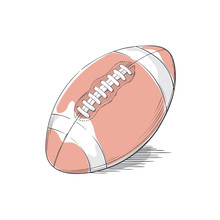 American Football Or Rugby Bal...