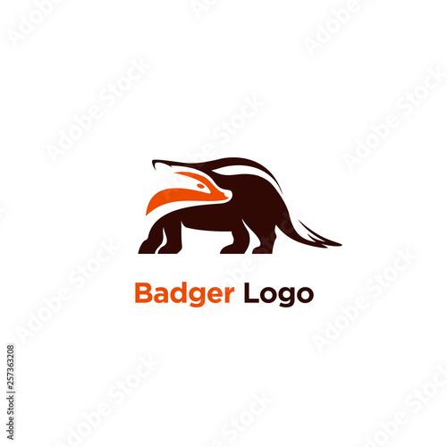Fotografie, Tablou vector illustration badger logo designs