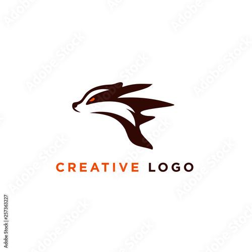 Canvas Print vector illustration badger logo designs