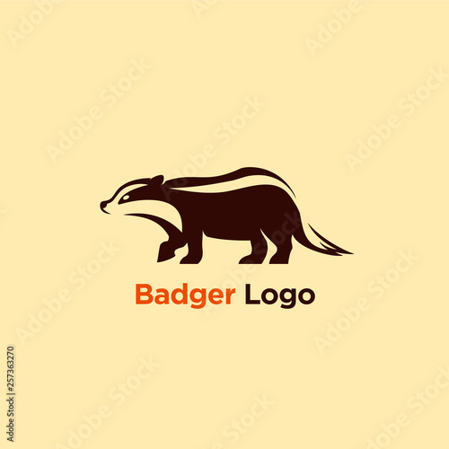 Valokuvatapetti vector illustration badger logo designs