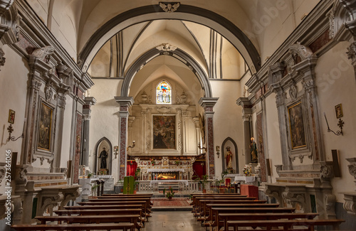 Church St. Francesco, from Ravello in Amalfi Coast, Italy
