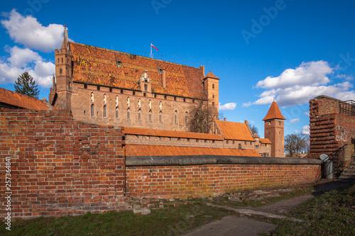 Staande foto Marokko Teutonic castle in Malbork, Pomorskie, Poland