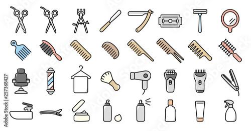 Barber Shop Icon Set