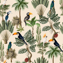 Seamless Pattern With Exotic T...