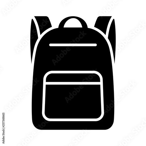 Obraz Schoolbag / school bag backpack with straps flat vector icon for apps and websites - fototapety do salonu