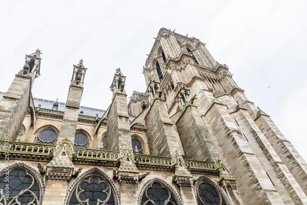 Fototapety, obrazy: Notre-Dame de Paris exterior
