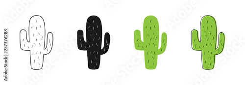 Isolated Cactus icons Fototapeta