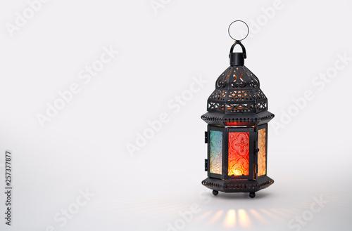 Arabic lantern with burning candle Wallpaper Mural