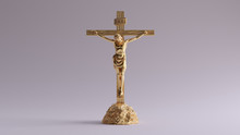 Gold Jesus Christ On The Cross...
