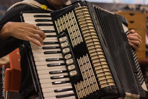Fényképezés  Accordion player