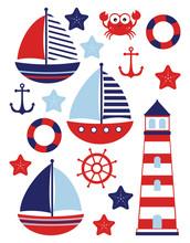 Nautical Baby Set Marine