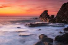 Amazing Sunset Landscape At Ro...