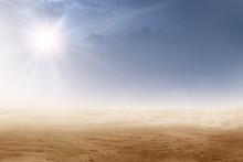 Views Of Desert With Sunlight