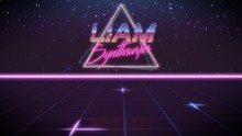 First Name Liam In Synthwave S...