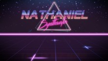First Name Nathaniel In Synthwave Style