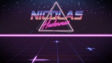 First Name Nicolas In Synthwav...