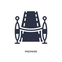 Premiere Icon On White Background. Simple Element Illustration From Cinema Concept.