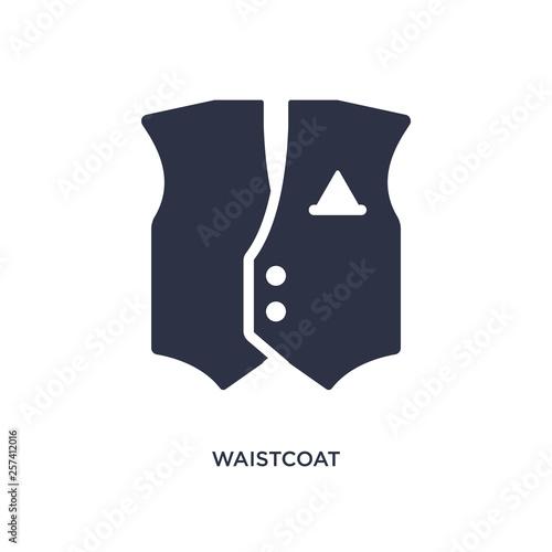 waistcoat icon on white background Slika na platnu