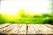 Leinwandbild Motiv Desk of free space for your decoration and spring blurred background