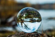 Crystal Ball Ros River In Bila Tserkva Ukraine
