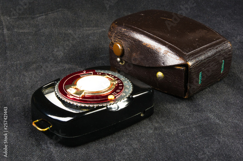 old vintage Soviet exposure meter with leather case - Buy