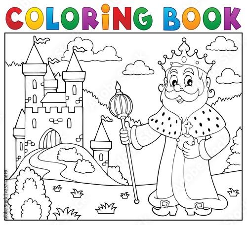 Foto op Plexiglas Voor kinderen Coloring book king topic 2