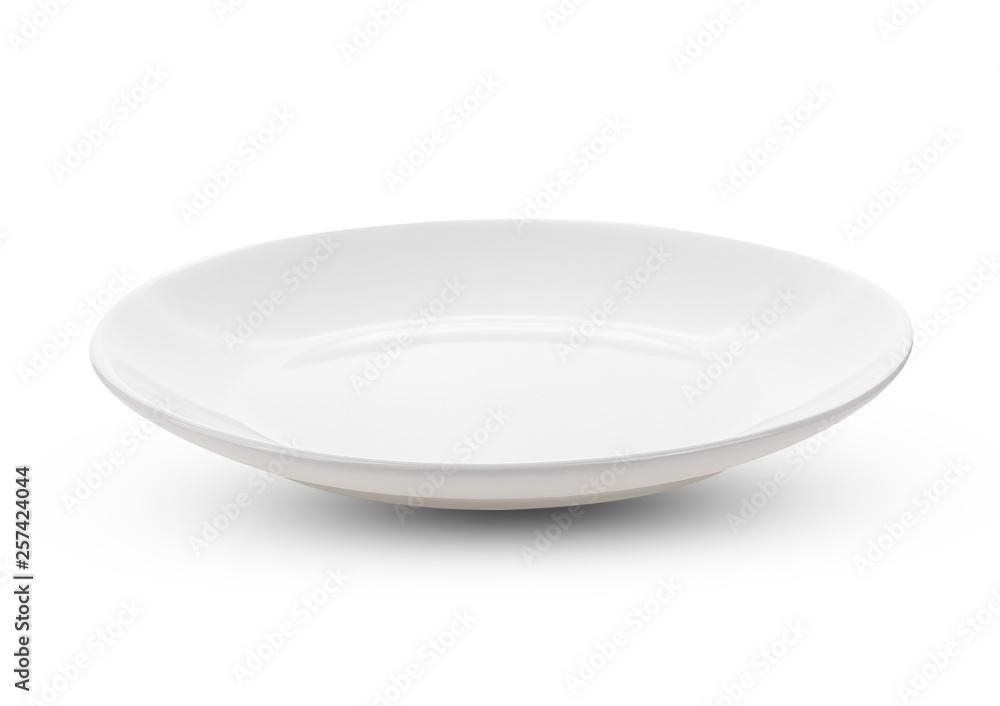 Fototapety, obrazy: white plate isolate on white background