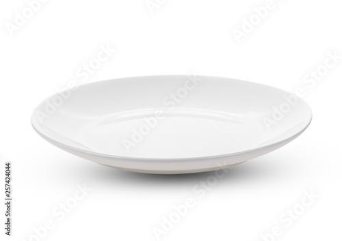 Photo  white plate isolate on white background