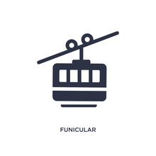 Funicular Icon On White Backgr...