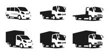 Set Of Trucks, Silhouettes Of ...
