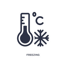 Freezing Icon On White Background. Simple Element Illustration From Weather Concept.