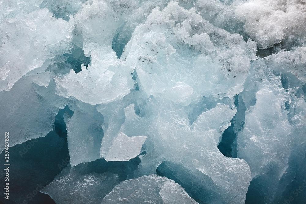 Fototapety, obrazy: Block of glacier ice