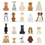 Fototapeta Fototapety na ścianę do pokoju dziecięcego - Dog set. Collection of dogs of various breed