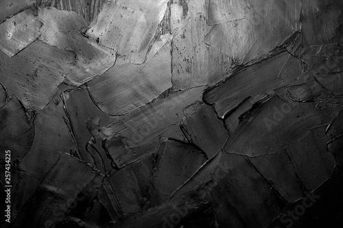Palette knife impasto macro closeup oil painting fragment. Canvas Print