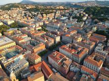 Flight Over The City Of Ancona Italy