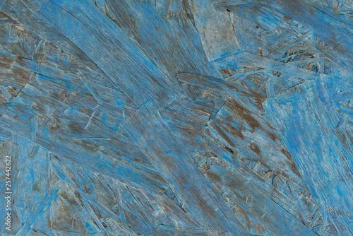 Photo sur Toile Les Textures old blue osb