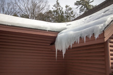 Ice Dam On Roof. Shingle Roof ...