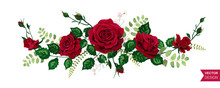 Vector Roses Wedding Invitatio...