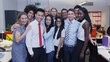 4K Portrait of happy mixed ethnicity business group.
