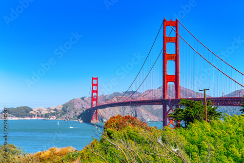 Panorama of the Gold Gate Bridge and the other side of the bay Canvas Print