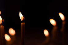 Candles In A Dark Religion Fir...