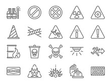 Alert Line Icon Set. Included ...