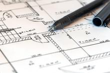 Planzeichnung Eines Hauses Mit...