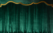 Green Curtain Of Luxurious Vel...