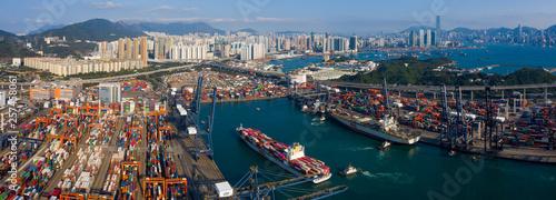 Valokuva Hong Kong container port