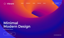 Trendy Abstract Design Template With 3d Flow Shapes. Dynamic Gradient Composition. Applicable For Landing Pages, Covers, Brochures, Flyers, Presentations, Banners. Vector Illustration. Eps10