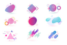 Set Of Abstract Graphic Design...