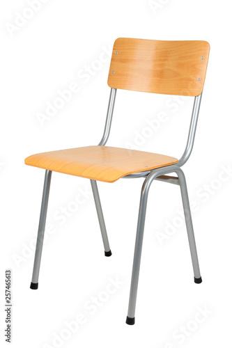 Obraz na plátně School chair isolated on white