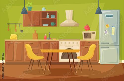 Kitchen home interior, dining room furniture design Canvas