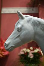 Molded White Horse Head